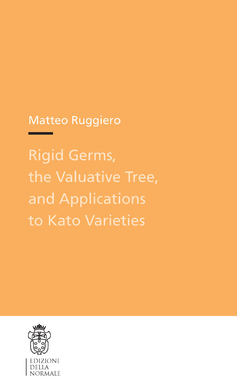 Ruggiero, Matteo - Rigid Germs, the Valuative Tree, and Applications to Kato Varieties, ebook