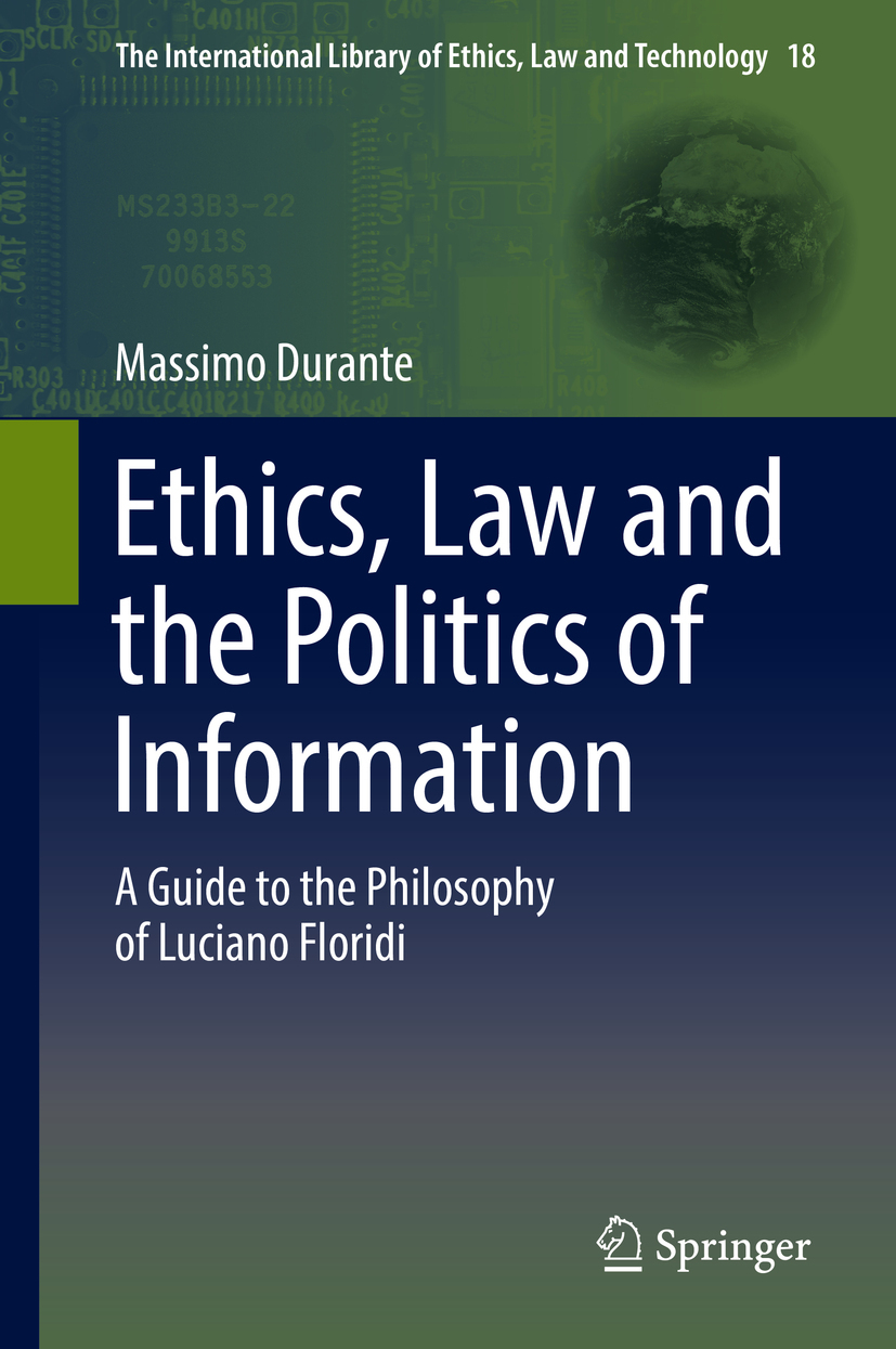 Durante, Massimo - Ethics, Law and the Politics of Information, ebook