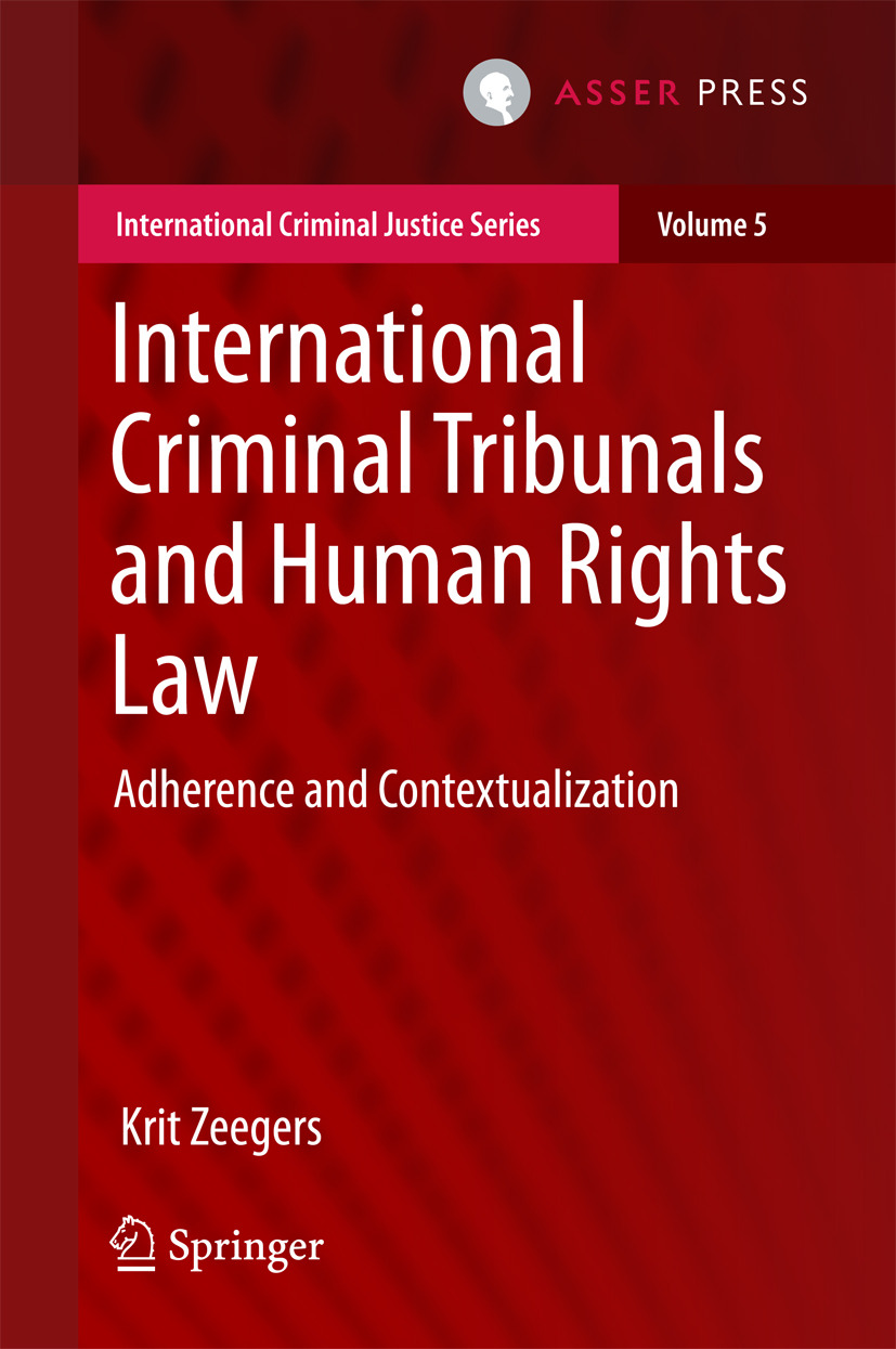 Zeegers, Krit - International Criminal Tribunals and Human Rights Law, ebook