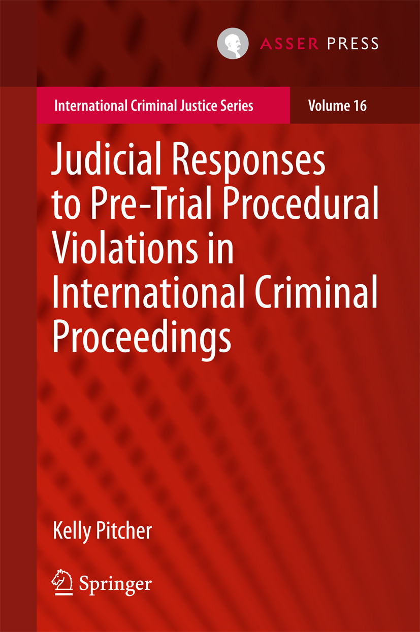 Pitcher, Kelly - Judicial Responses to Pre-Trial Procedural Violations in International Criminal Proceedings, ebook
