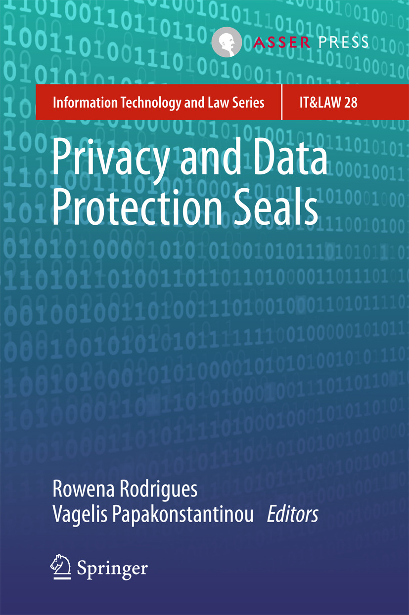 Papakonstantinou, Vagelis - Privacy and Data Protection Seals, ebook