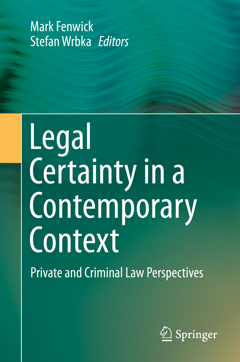 Fenwick, Mark - Legal Certainty in a Contemporary Context, ebook