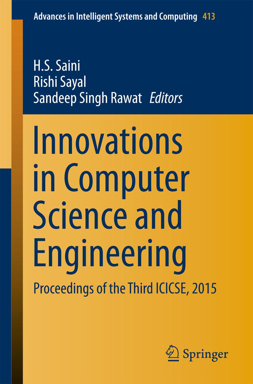 Rawat, Sandeep Singh - Innovations in Computer Science and Engineering, ebook