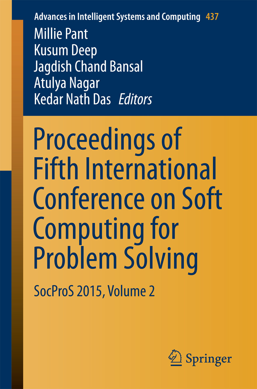 Bansal, Jagdish Chand - Proceedings of Fifth International Conference on Soft Computing for Problem Solving, ebook