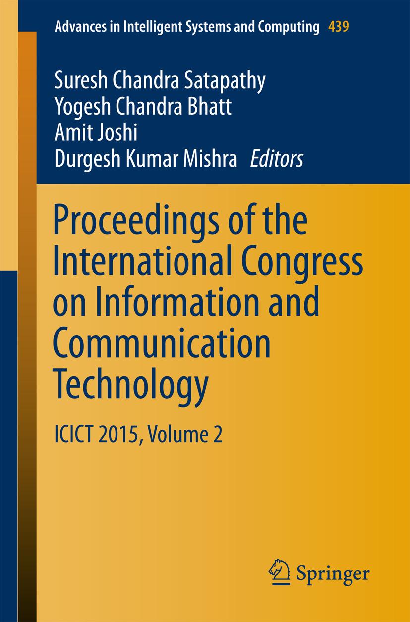 Bhatt, Yogesh Chandra - Proceedings of the International Congress on Information and Communication Technology, ebook