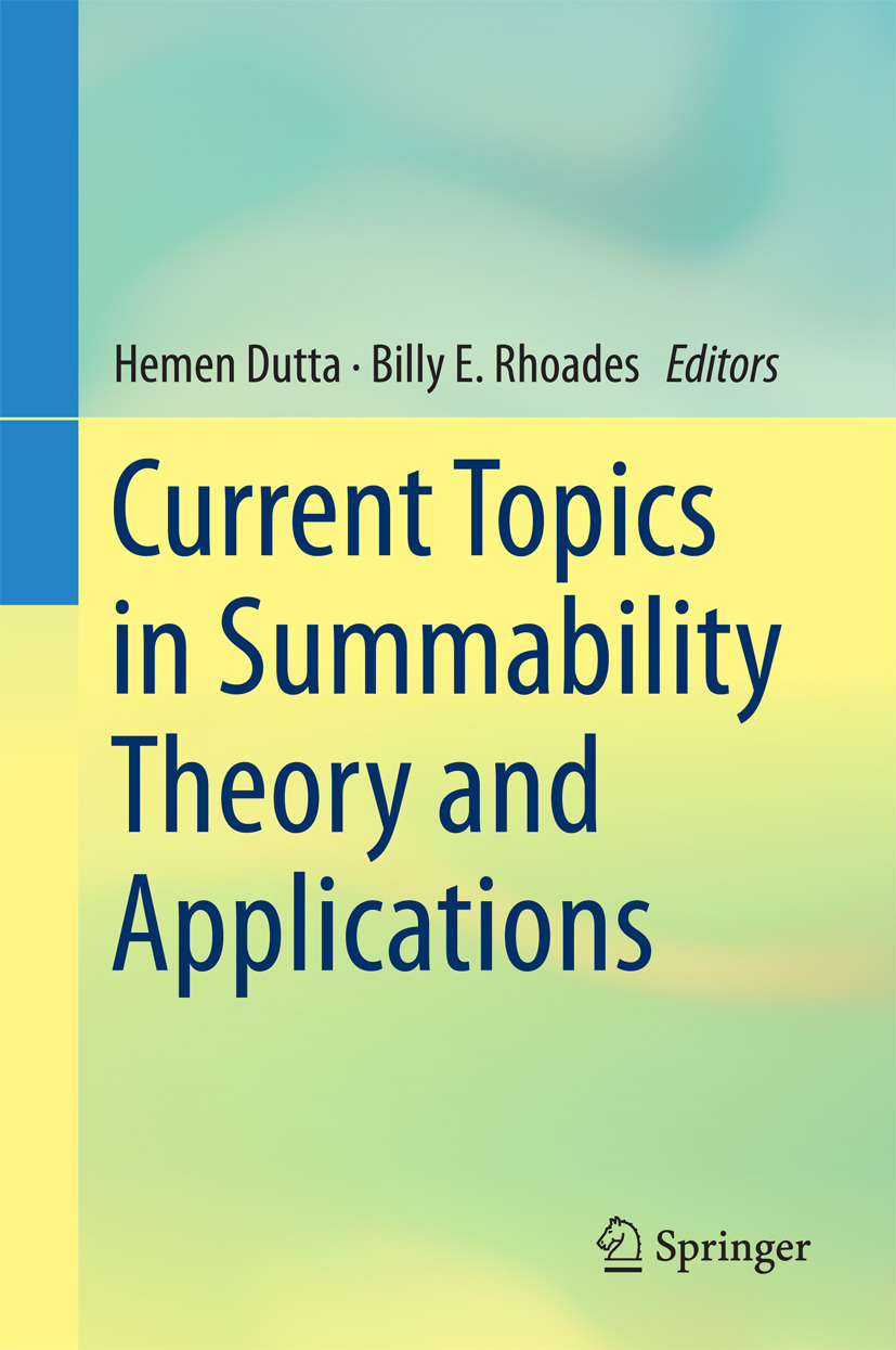 Dutta, Hemen - Current Topics in Summability Theory and Applications, ebook