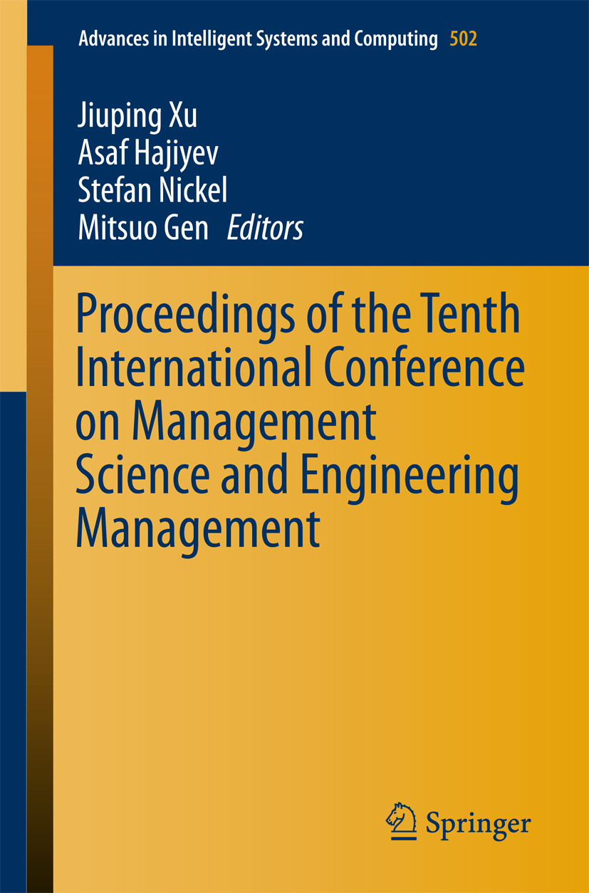 Gen, Mitsuo - Proceedings of the Tenth International Conference on Management Science and Engineering Management, ebook
