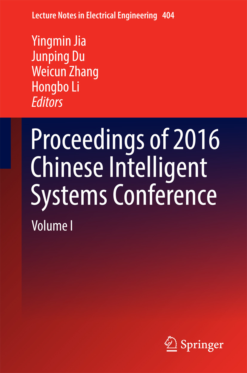 Du, Junping - Proceedings of 2016 Chinese Intelligent Systems Conference, ebook