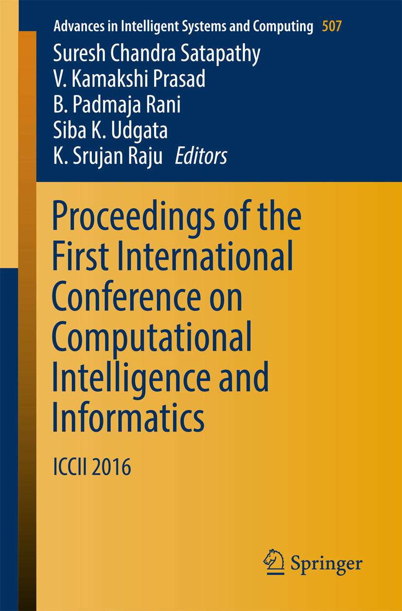 Prasad, V. Kamakshi - Proceedings of the First International Conference on Computational Intelligence and Informatics, ebook