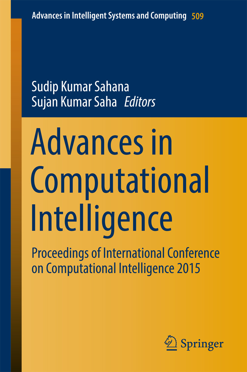 Saha, Sujan Kumar - Advances in Computational Intelligence, ebook