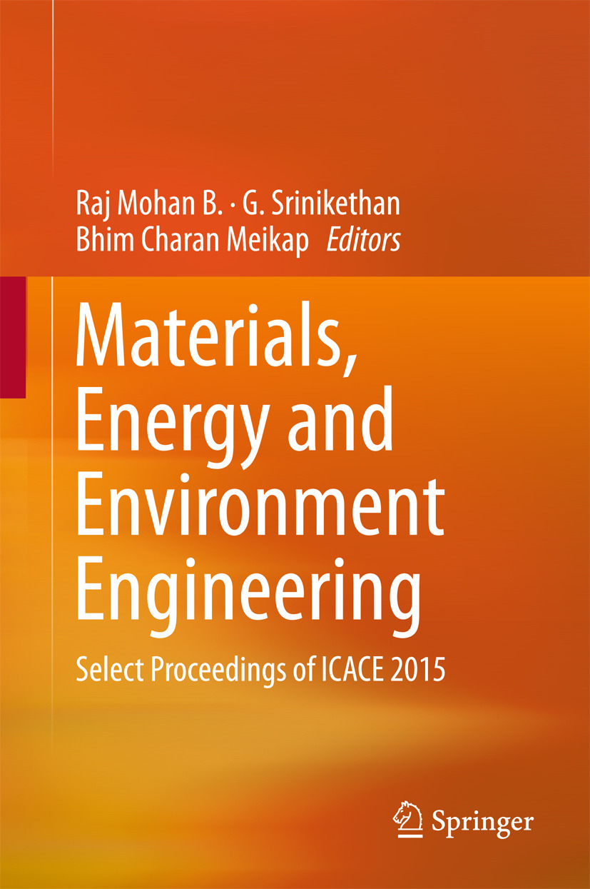 B., Raj Mohan - Materials, Energy and Environment Engineering, ebook