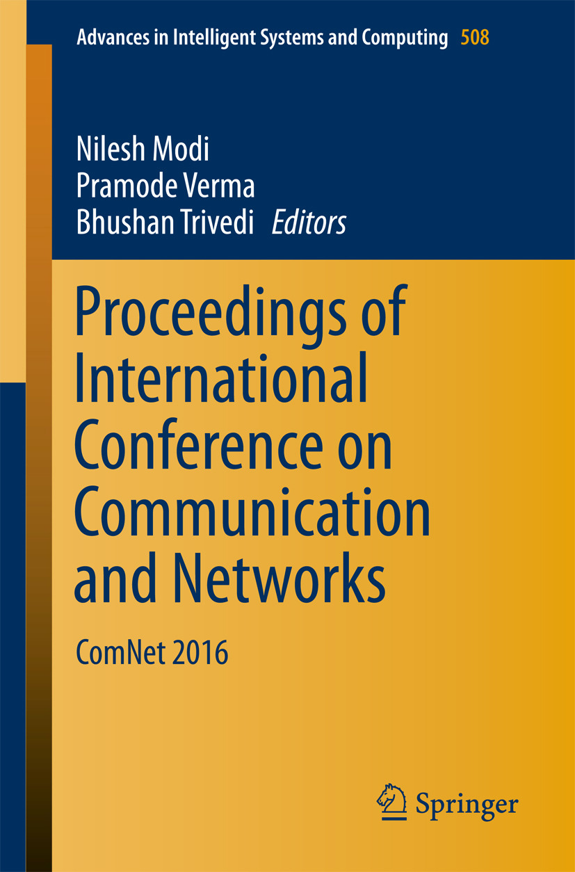 Modi, Nilesh - Proceedings of International Conference on Communication and Networks, ebook