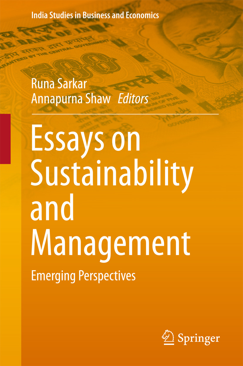 Sarkar, Runa - Essays on Sustainability and Management, ebook