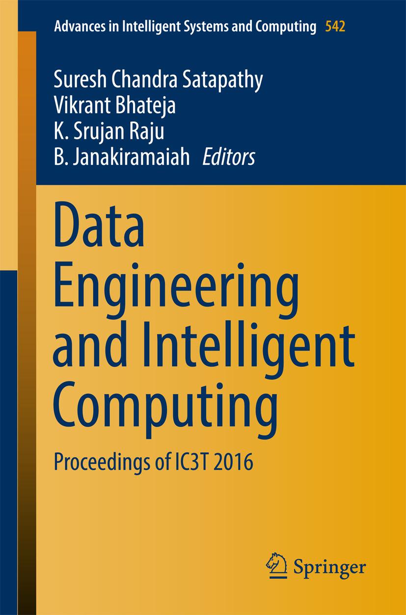 Bhateja, Vikrant - Data Engineering and Intelligent Computing, e-bok