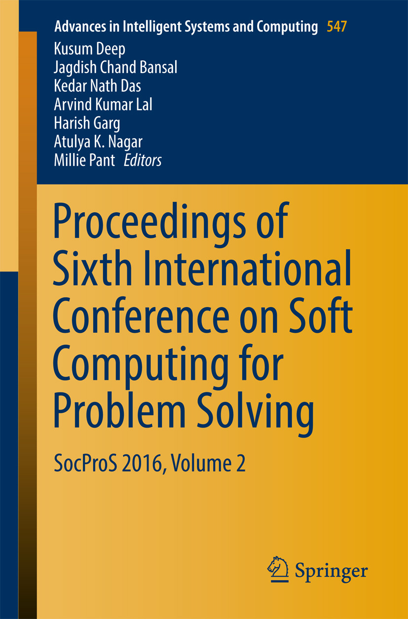 Bansal, Jagdish Chand - Proceedings of Sixth International Conference on Soft Computing for Problem Solving, e-bok