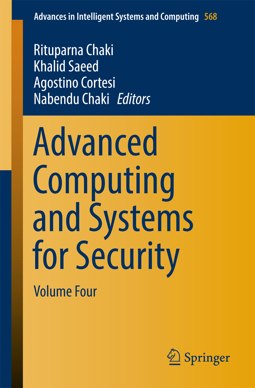 Chaki, Nabendu - Advanced Computing and Systems for Security, ebook