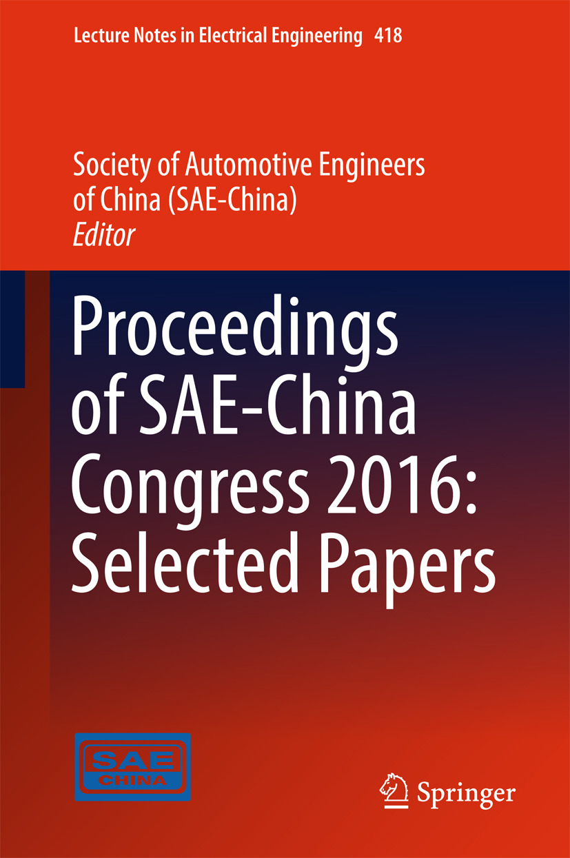 - Proceedings of SAE-China Congress 2016: Selected Papers, e-bok