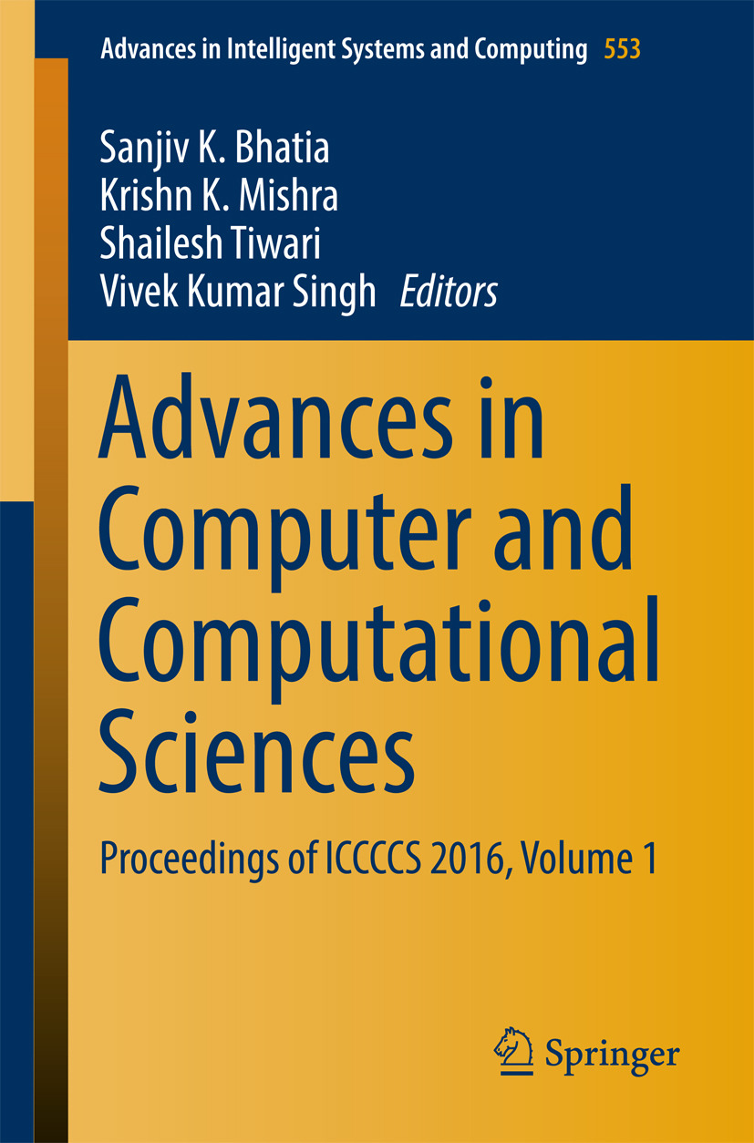 Bhatia, Sanjiv K. - Advances in Computer and Computational Sciences, ebook