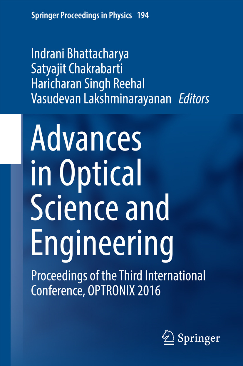 Bhattacharya, Indrani - Advances in Optical Science and Engineering, ebook