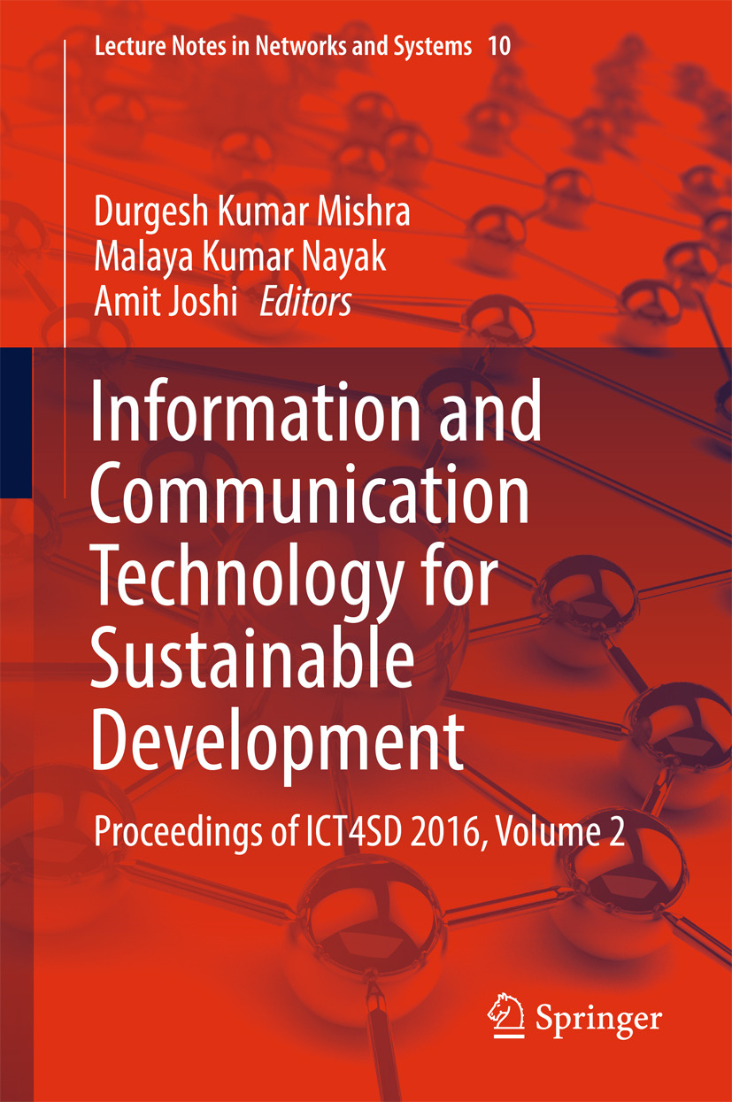 Joshi, Amit - Information and Communication Technology for Sustainable Development, ebook