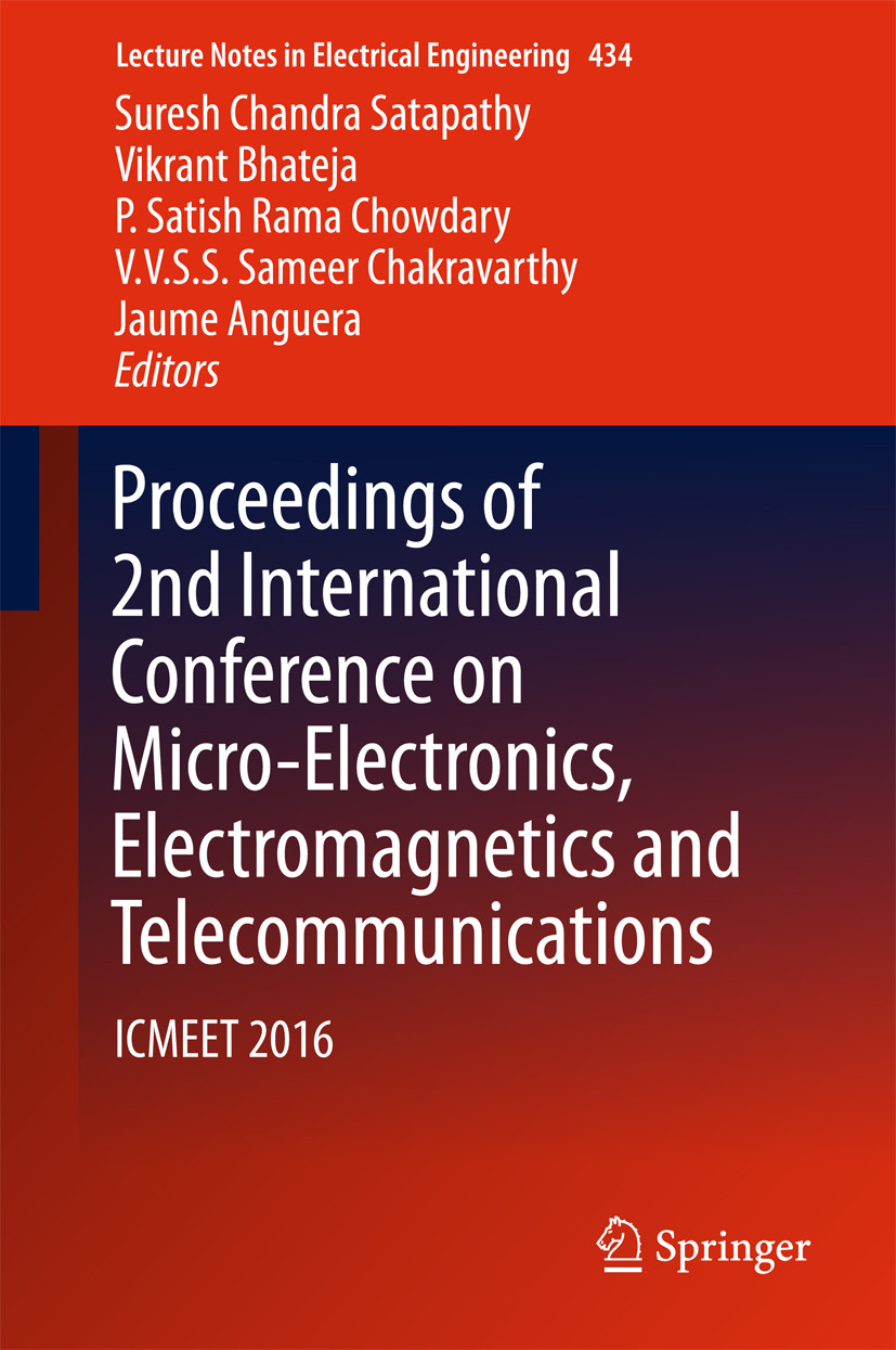 Anguera, Jaume - Proceedings of 2nd International Conference on Micro-Electronics, Electromagnetics and Telecommunications, ebook
