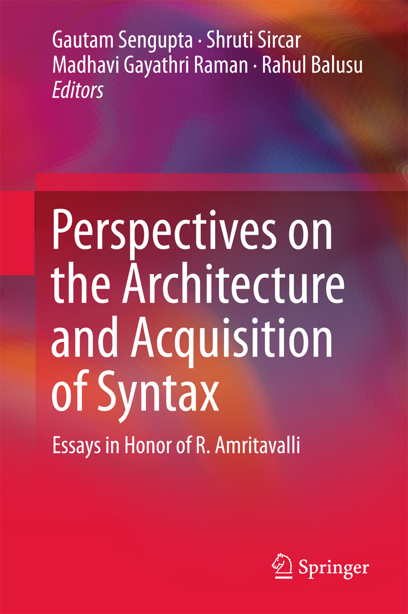 Balusu, Rahul - Perspectives on the Architecture and Acquisition of Syntax, ebook