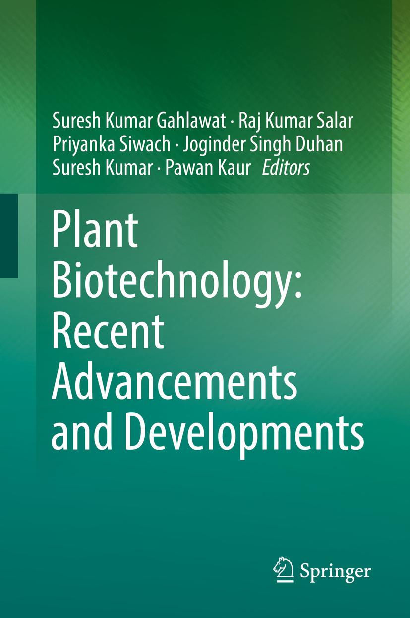 Duhan, Joginder Singh - Plant Biotechnology: Recent Advancements and Developments, ebook