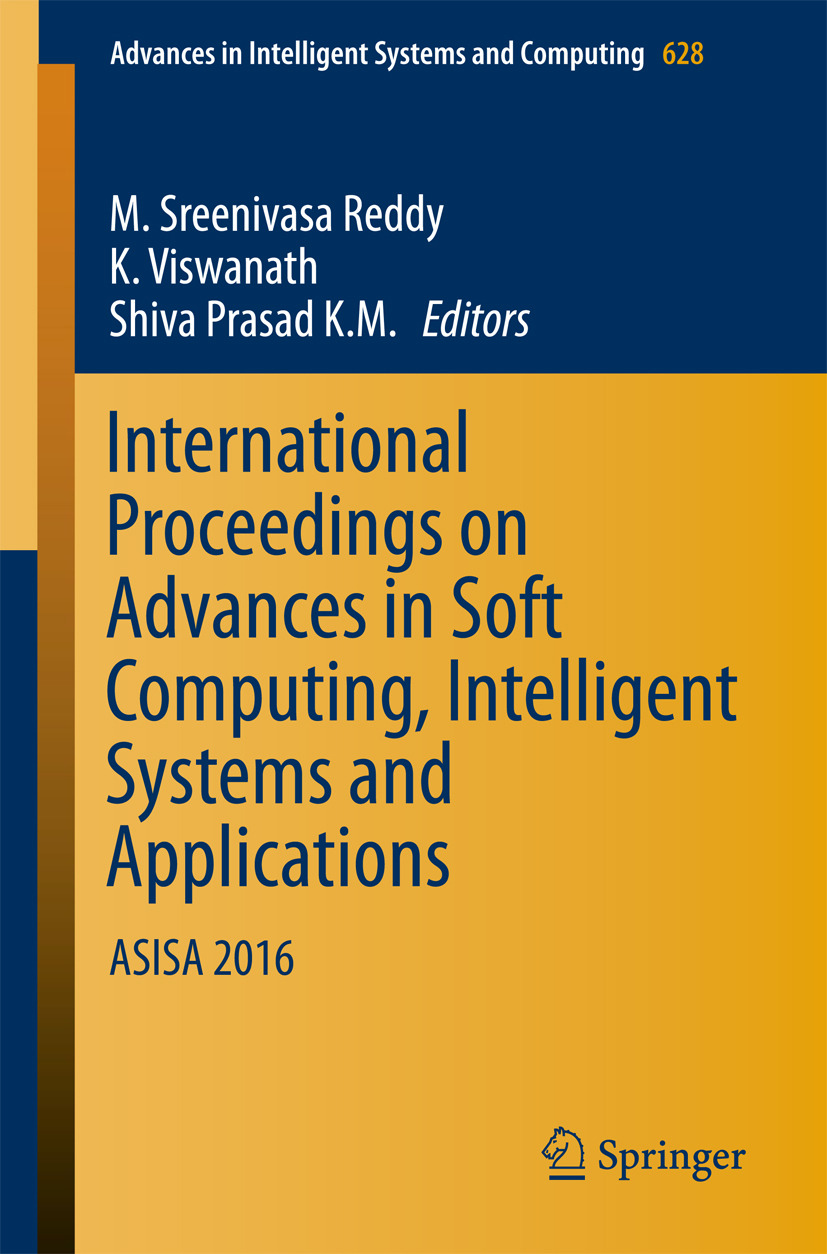K.M., Shiva Prasad - International Proceedings on Advances in Soft Computing, Intelligent Systems and Applications, ebook