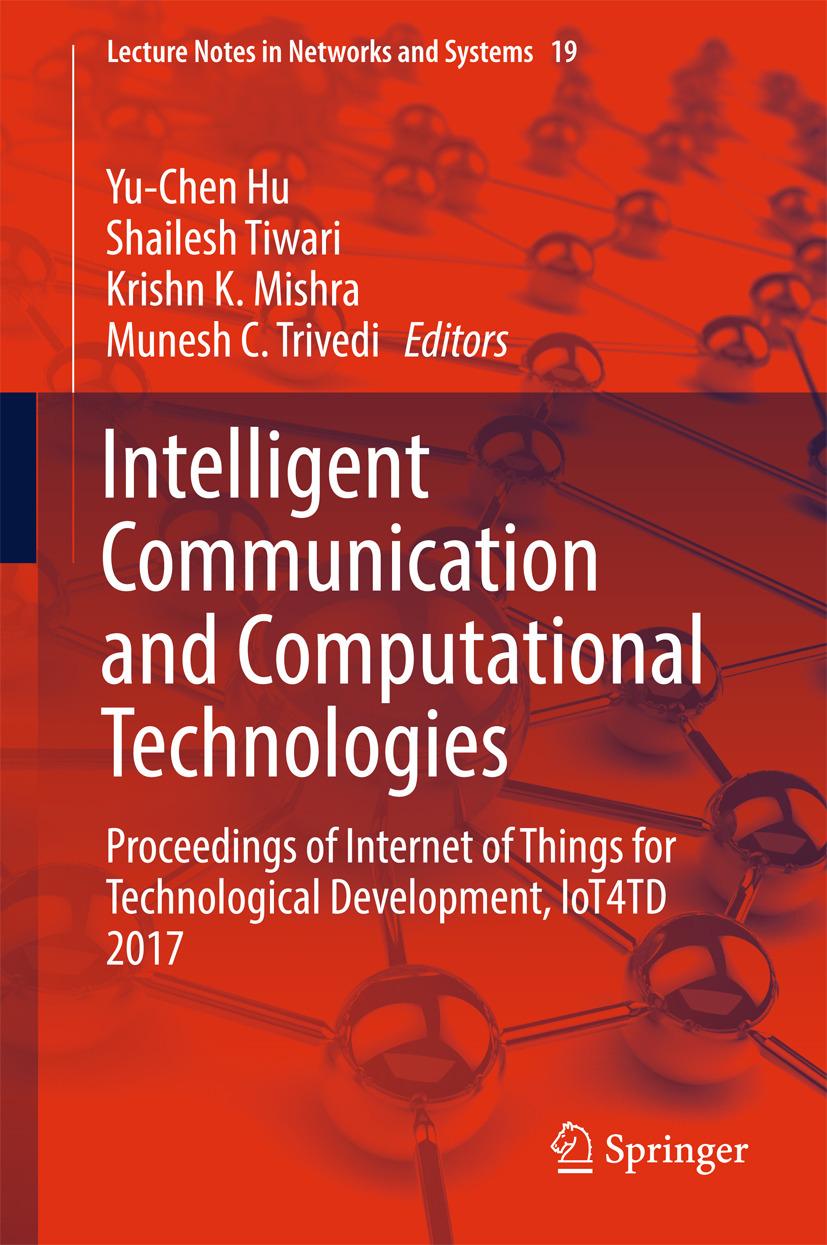 Hu, Yu-Chen - Intelligent Communication and Computational Technologies, ebook