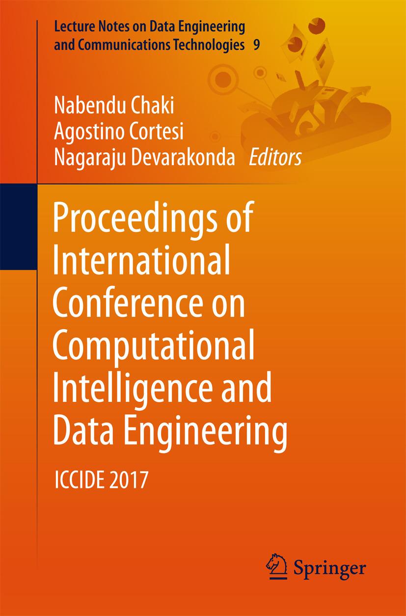 Chaki, Nabendu - Proceedings of International Conference on Computational Intelligence and Data Engineering, ebook