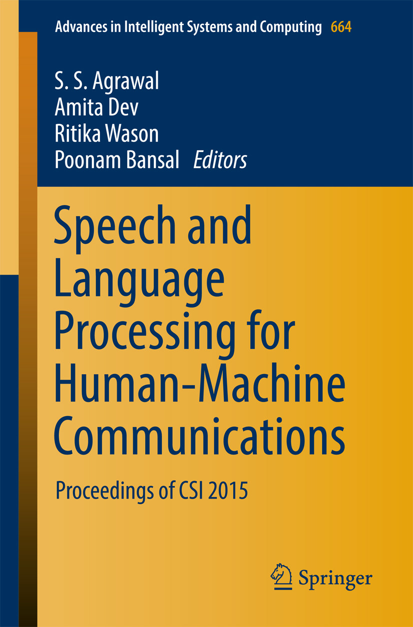 Agrawal, S. S. - Speech and Language Processing for Human-Machine Communications, ebook