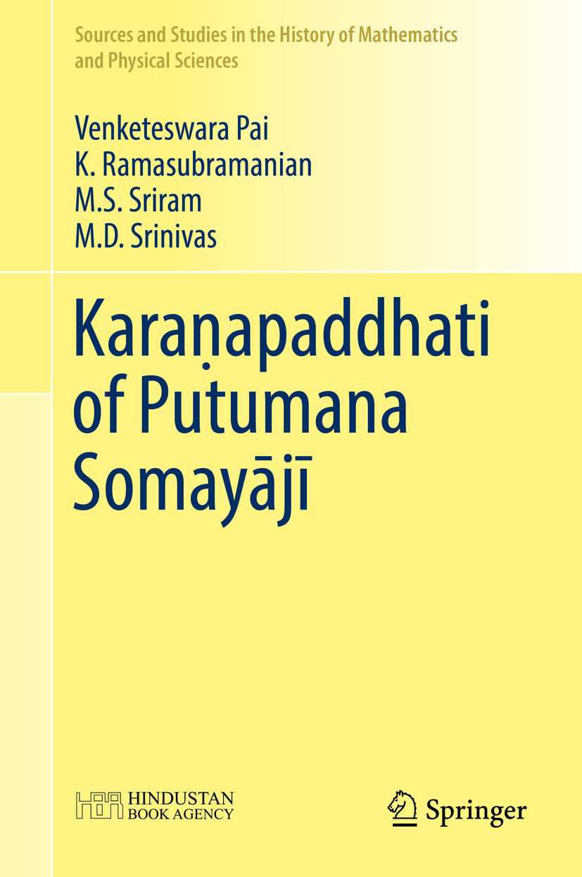 Pai, Venketeswara - Karaṇapaddhati of Putumana Somayājī, ebook