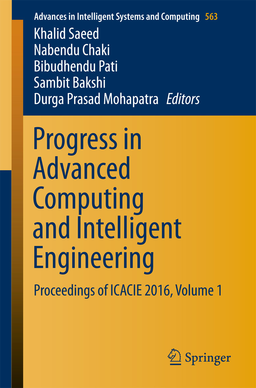 Bakshi, Sambit - Progress in Advanced Computing and Intelligent Engineering, ebook