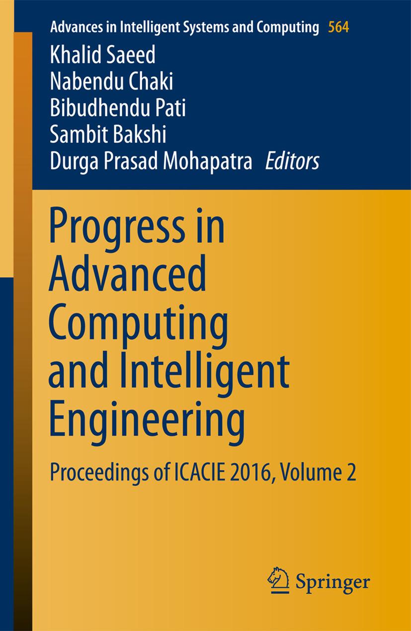 Bakshi, Sambit - Progress in Advanced Computing and Intelligent Engineering, ebook