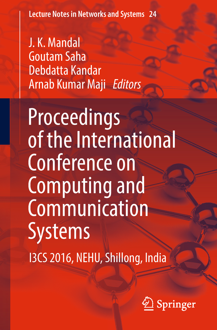 Kandar, Debdatta - Proceedings of the International Conference on Computing and Communication Systems, ebook