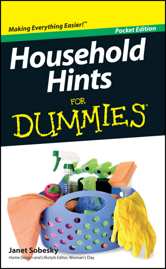 Sobesky, Janet - Household Hints For Dummies, Pocket Edition, e-bok