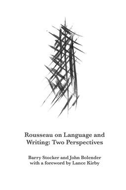 Stocker, Barry - Rousseau on Language and Writing, ebook