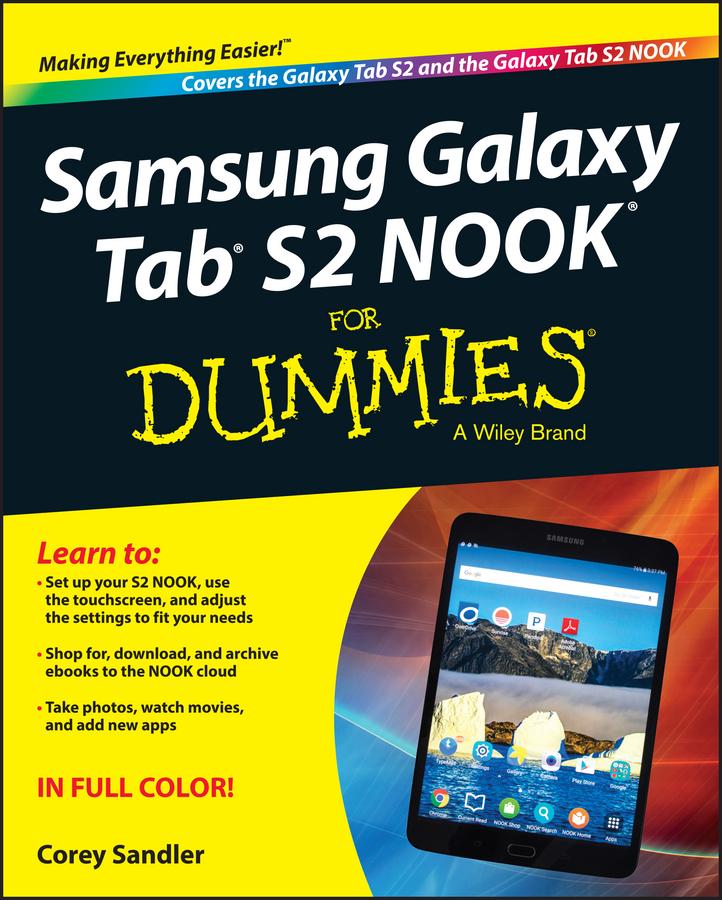 Sandler, Corey - Samsung Galaxy Tab S2 NOOK For Dummies, ebook