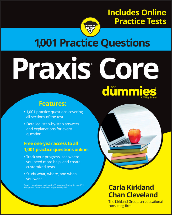 - 1,001 Praxis Core Practice Questions For Dummies With Online Practice, ebook