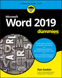 Gookin, Dan - Word 2019 For Dummies, ebook
