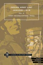 Indian Army List January 1919 — Volume 2