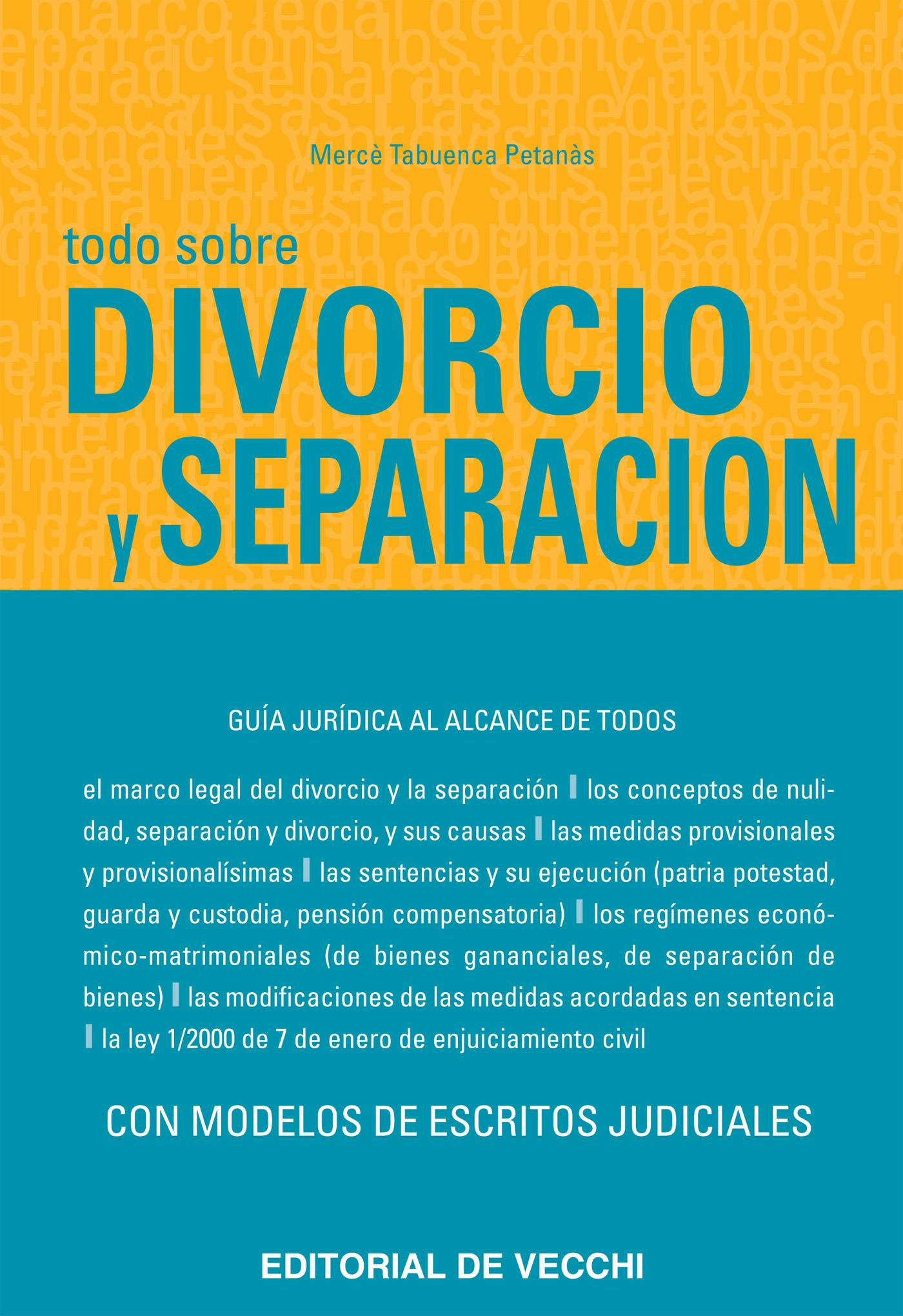 Petanàs, Mercè Tabuenca - Todo sobre divorcio  y separación, ebook