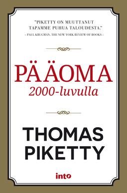 Piketty, Thomas - Pääoma 2000-luvulla, e-kirja