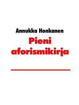 Honkanen, Annukka - Pieni aforismikirja, e-kirja
