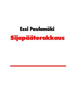 Paulamäki, Essi - Sijapääterakkaus, e-kirja
