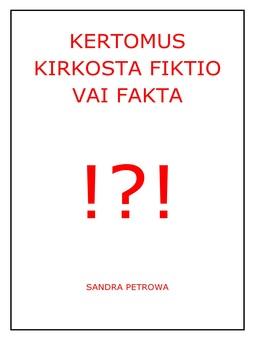 Petrowa, Sandra - Kertomus kirkosta fiktio vai fakta, e-kirja