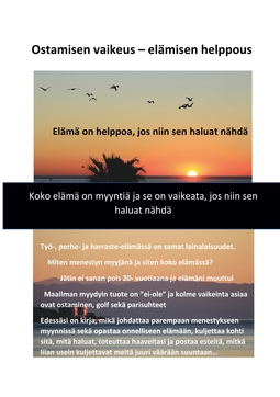 Päivärinta, Juha - Ostamisen vaikeus - elämisen helppous, e-kirja
